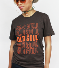 Model wearing Old Soul T-Shirt