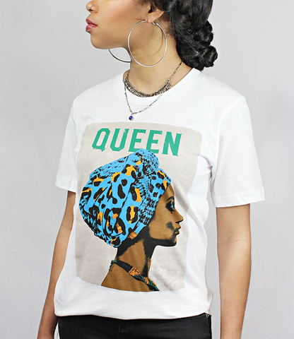 Model wearing Queen T-Shirt