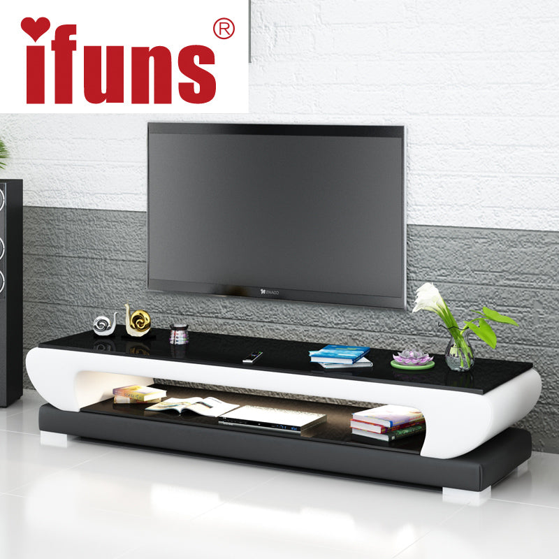 Tv Meubel Master.Ifuns New Design Modern White Black Brown Leather Tv Stand Tv