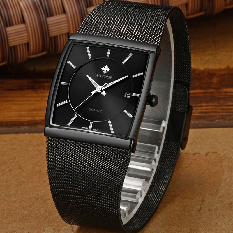 eutour men watches watch black marble simple slim male clock fashion products waterproof quartz wristwatch horse mens man