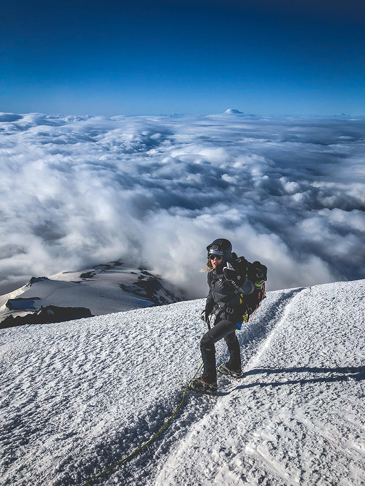 Summiting Mount Rainier with Ned Hemp Products