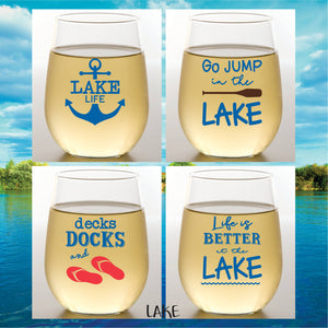 Wine-Oh! - DECKS DOCKS Shatterproof Wine Glasses