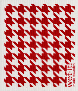 Wet-it! - Houndstooth Red Swedish Cloth