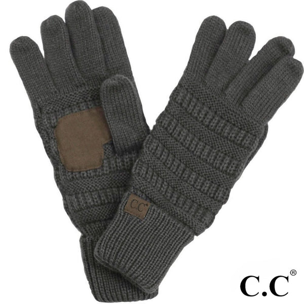 C.C Solid Ribbed Glove