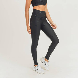 Mono B - Black Star Foil Highwaist Leggings