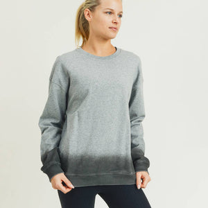 Mono B - Ombre Essential Cotton Terry Pullover