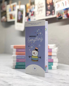 Sweeter Cards Chocolate Bar + Greeting Card in ONE! - Merry Everything Holiday Card & Chocolate Bar - BEST SELLER!