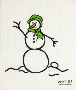 Wet-it! - Snowman Swedish Cloth