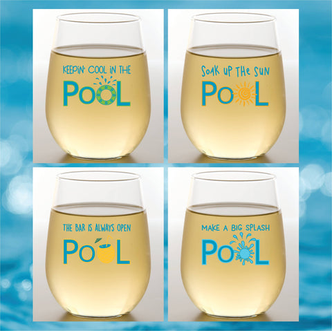 Wine-Oh! - POOL Shatterproof Wine Glasses