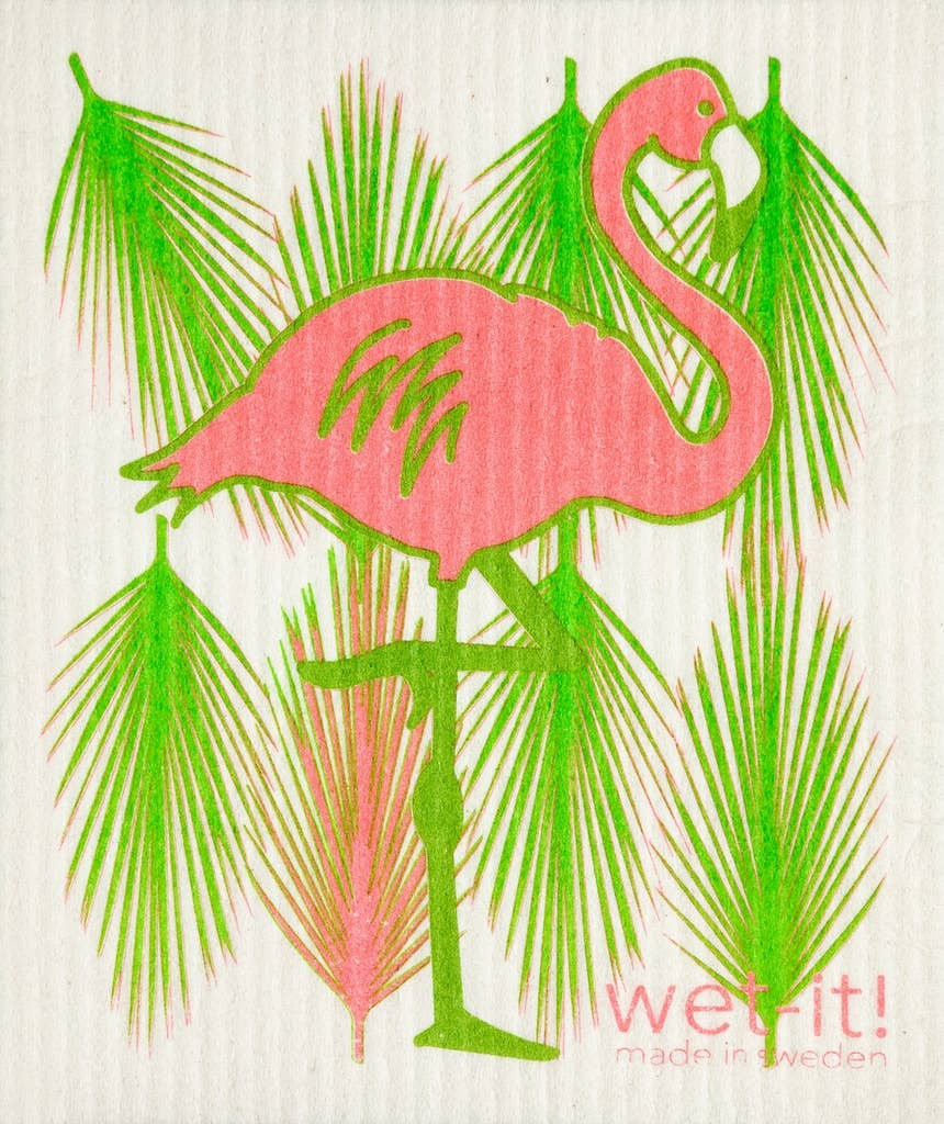 Wet-it! - Flamingo Swedish Cloth