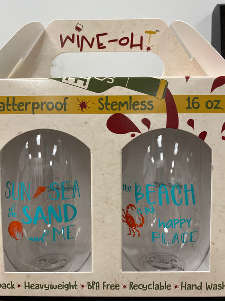Wine-Oh! - BEACH Shatterproof Wine Glasses