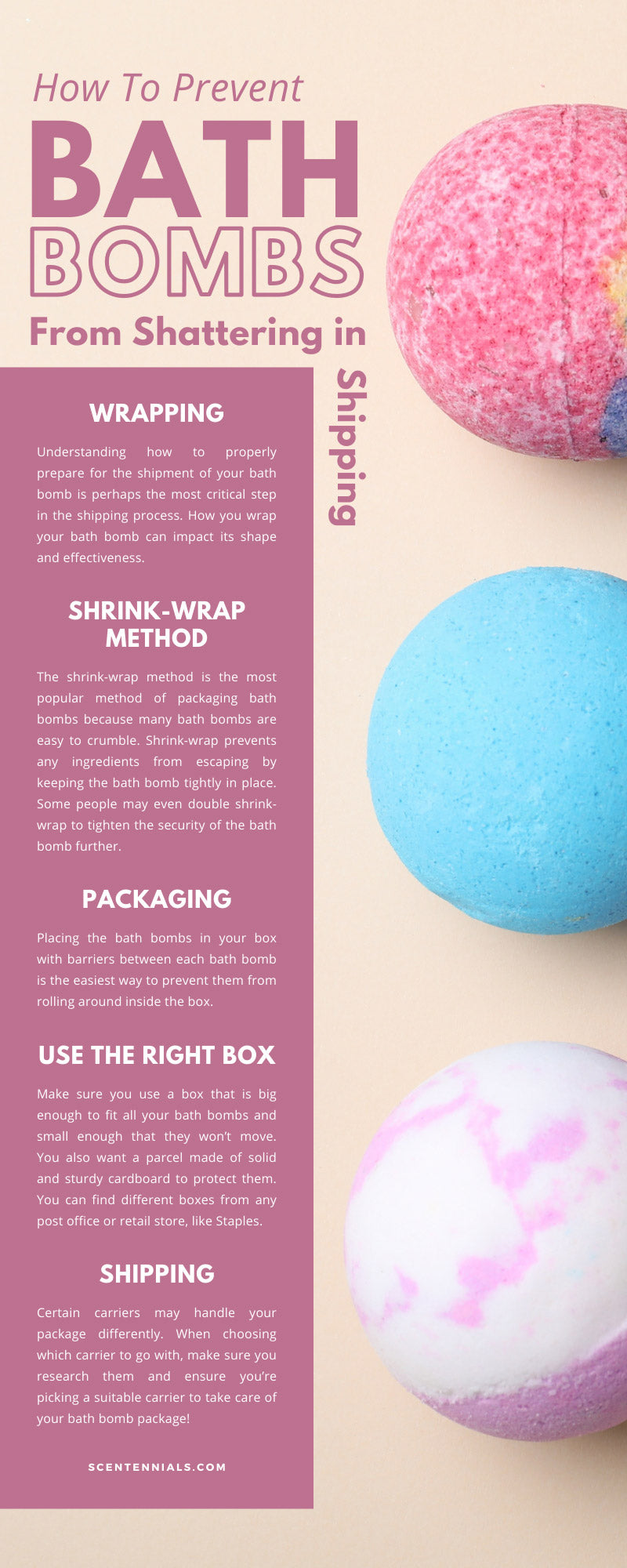 How To Prevent Bath Bombs From Shattering in Shipment