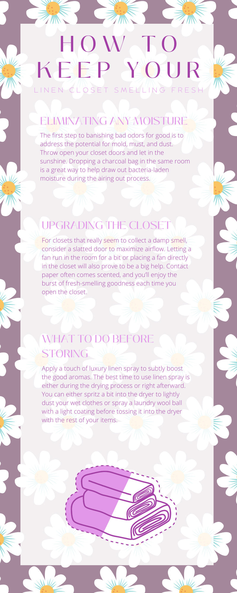 How To Keep Your Linen Closet Smelling Fresh