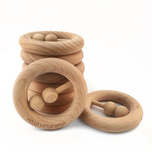 RAW Beech Wood Rattle
