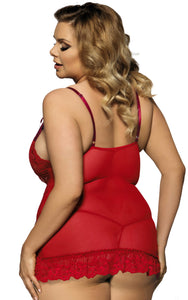 RED PASSION BABY DOLL SET | Adriano lingerie LLC