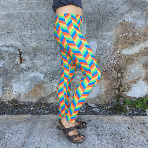 Chevron Leggings [Rainbow]