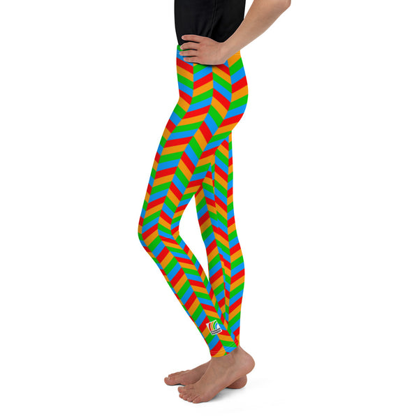Chevron Youth Leggings [Rainbow]
