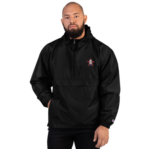 Embroidered FBomb Champion Packable Jacket