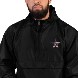 Embroidered FBomb Patriot Champion Packable Jacket