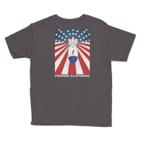 Youth Modern Patriot FBomb Dark Colored Short Sleeve T-Shirt