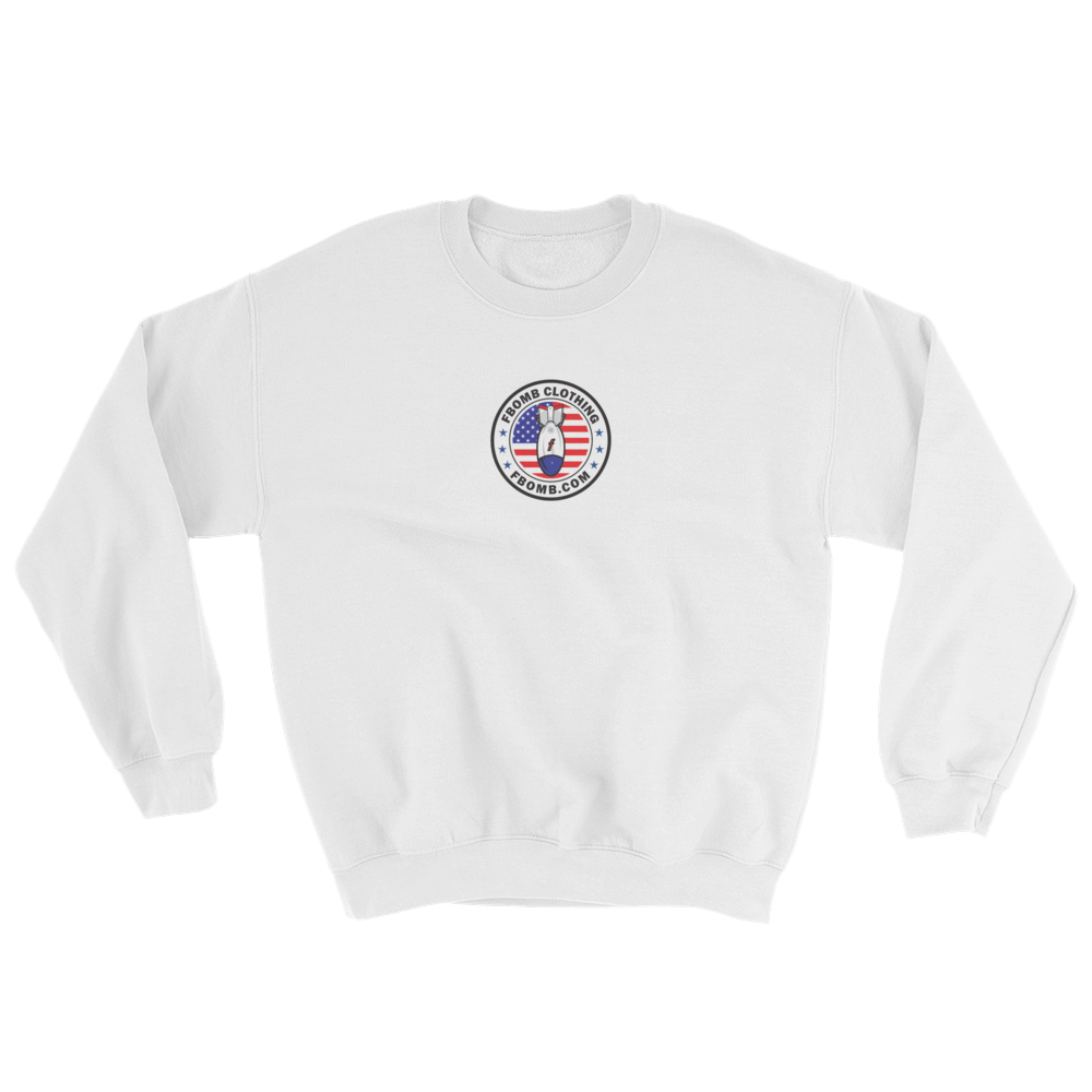 Modern Patriot FBomb Light Colored Sweatshirt