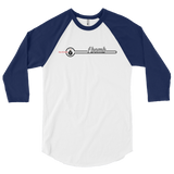Retro FBomb 3/4 sleeve raglan shirt