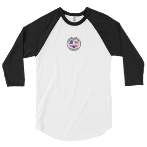 Modern FBomb Patriot 3/4 sleeve raglan shirt