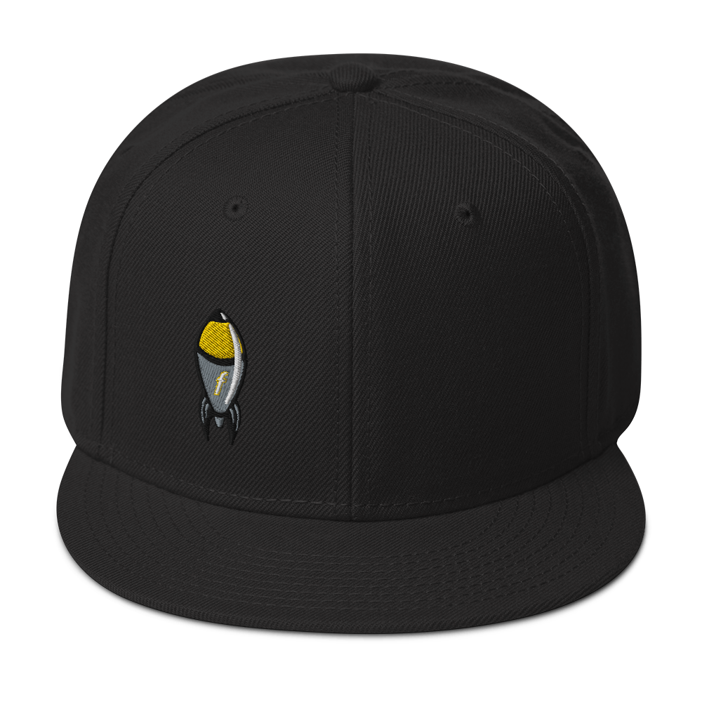 Cartoon FBomb Flatbill Snapback Hat