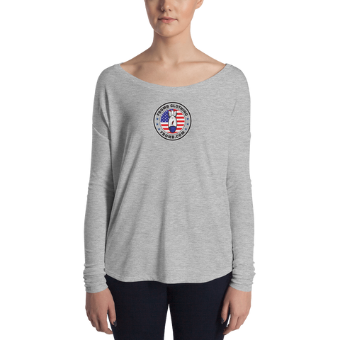 Ladies' New Patriot Cross FBomb Long Sleeve Tee