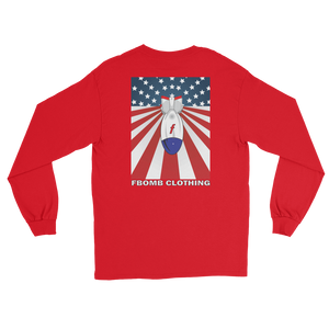 Modern Patriot FBomb Dark Colored Long Sleeve T-Shirt