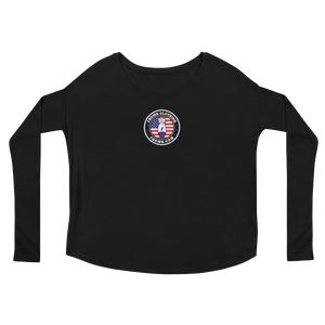 Patriot FBomb Logo Ladies' Long Sleeve Tee (dark)