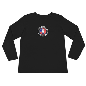 Ladies Modern Patriot FBomb Dark Colored Long Sleeve T-Shirt