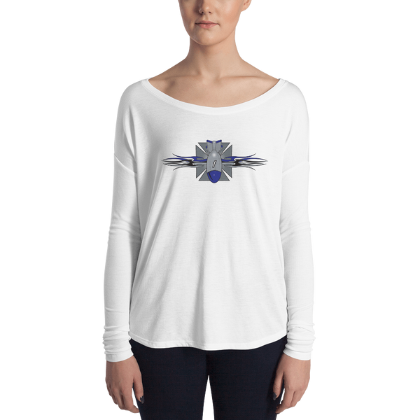 Ladies' Maltese Cross FBomb Long Sleeve Tee