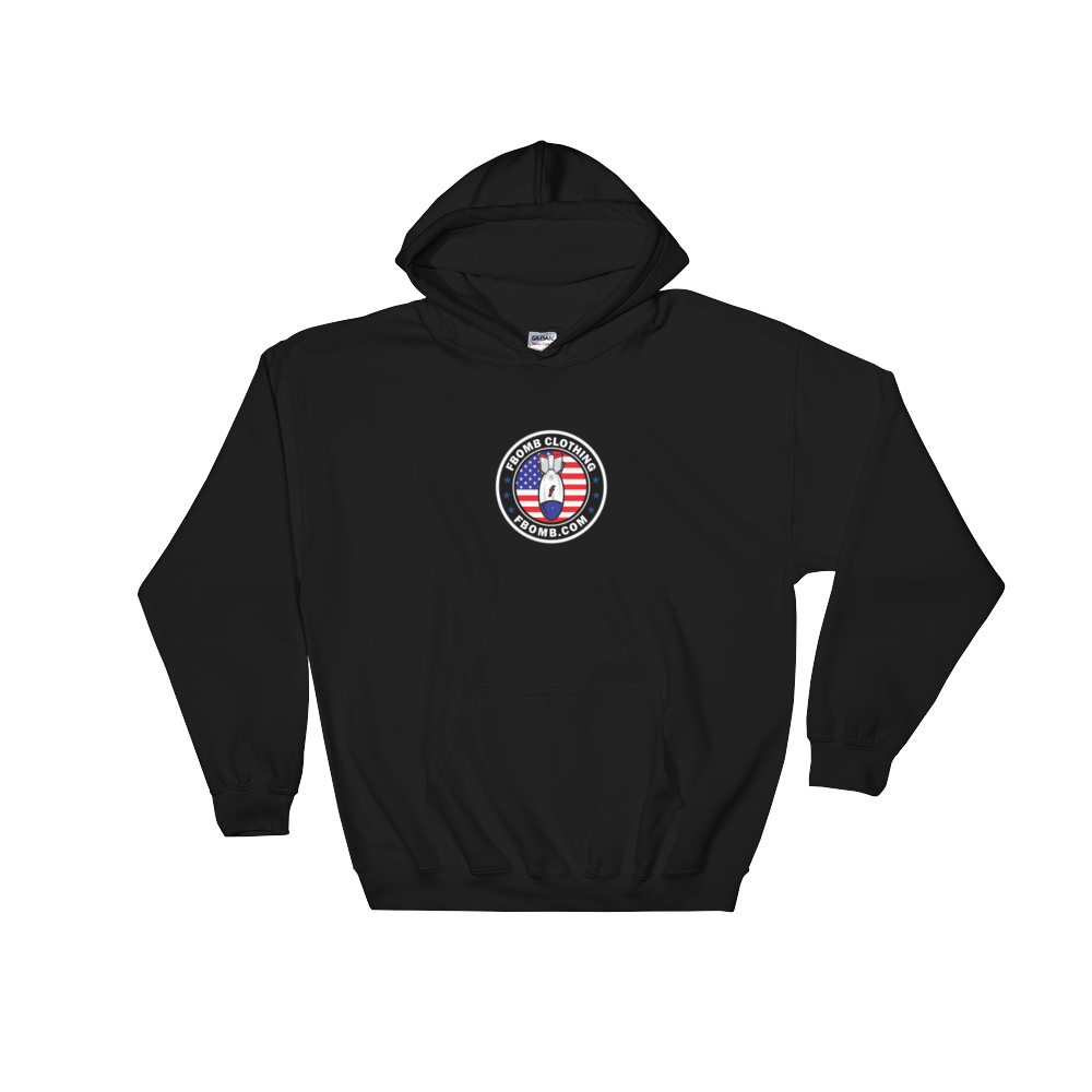 Modern Patriot FBomb Dark Colored Hooded Sweatshirt