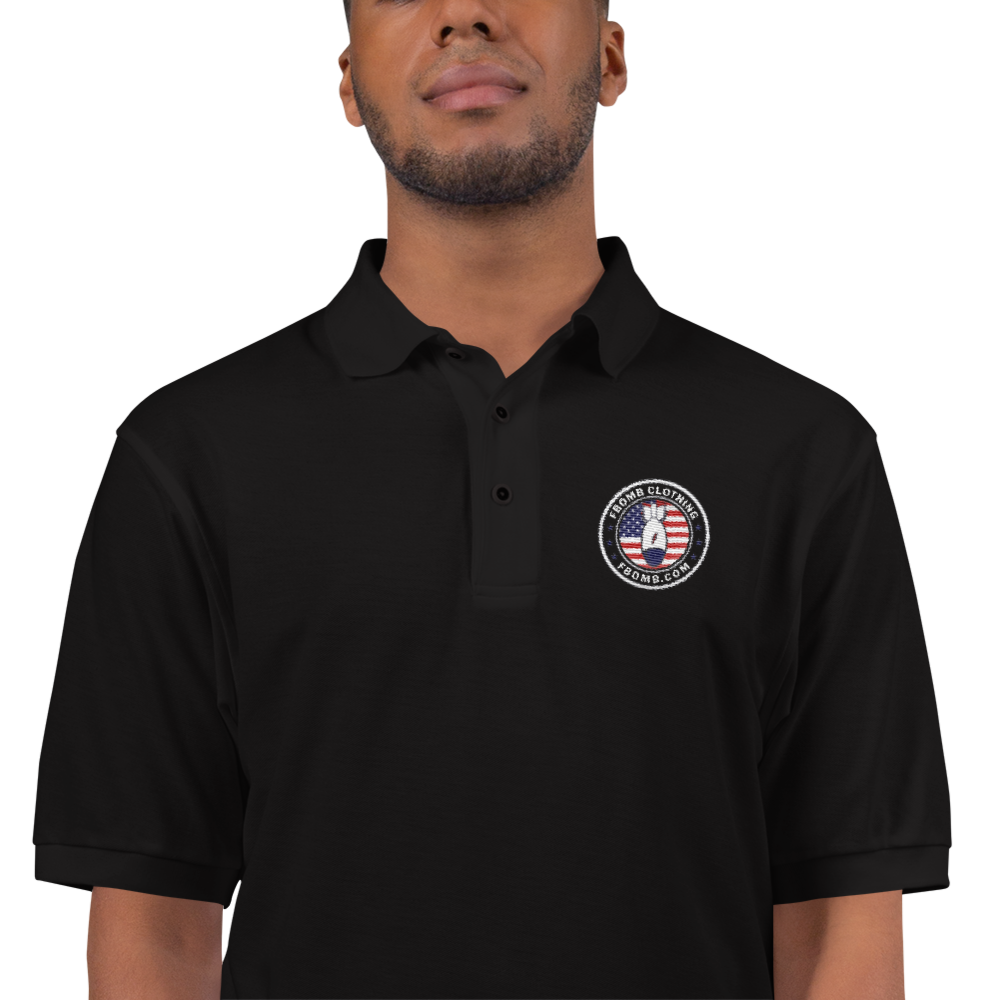 FBomb Embroidered Polo's