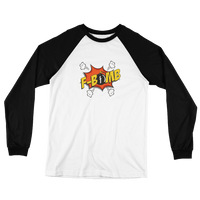 Dreamlove Cartoon FBomb Long Sleeve Baseball T-Shirt
