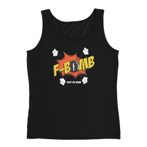 Dark Dreamlove Cartoon FBomb Ladies Tank
