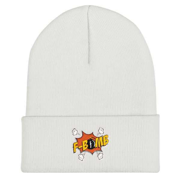 Dreamlove Cartoon FBomb Cuffed Beanie