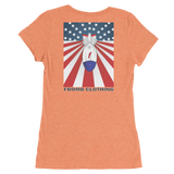 Ladies Modern Patriot FBomb Light Colored Short Sleeve T-shirt