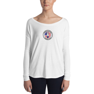 Patriot FBomb Logo Ladies' Long Sleeve Tee