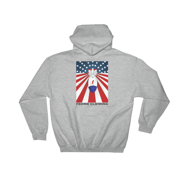 Modern Patriot FBomb Light Colored Hooded Sweatshirt