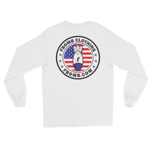 Patriot FBomb Logo Long Sleeve T-Shirt (light)