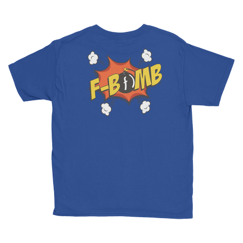 Dreamlove Cartoon FBomb Youth Short Sleeve T-Shirt