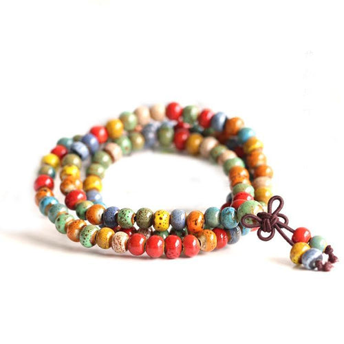 Multicolour Ceramic Bracelet (108 pearls)