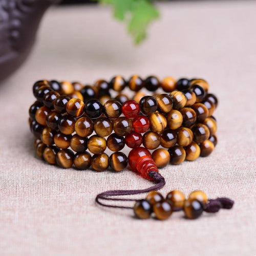 108 Pearls Tiger Eye Mala Bracelet