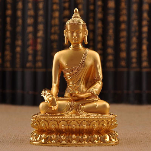 Buddha Metal Statuette (Golden Style)