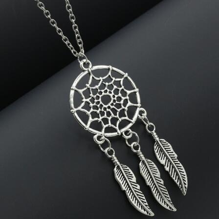 Vintage Dreamcatcher Pendant + Necklace