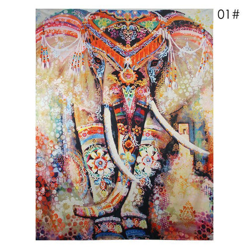 6 Different Wall Canvas : Sacred Elephant Theme