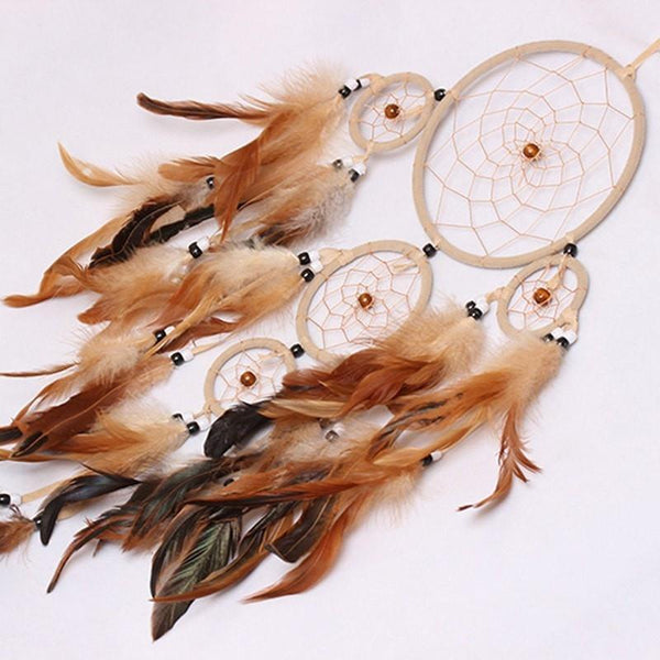 Homemade Amerindian Eagle Feathers' Dreamcatcher