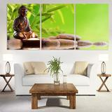 3 Pieces Feng Shui Style Buddha Canvas